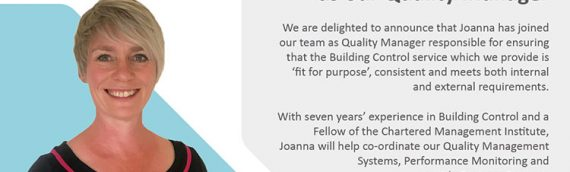 Welcoming Joanna McLeish as our Quality Manager