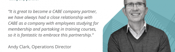 Proud to be appointed as CABE company partners